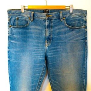 J. Crew The Sutton Men Size 38x32 Jeans Faded Look
